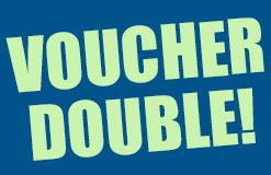 The super hot voucher double! Cash in twice now!